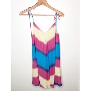 Anthro Lazerade by Veda Motif Rainbow Dress Size S